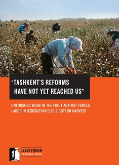 UNFINISHED WORK IN THE FIGHT AGAINST FORCED LABOR IN UZBEKISTAN'S 2019 COTTON HARVEST
