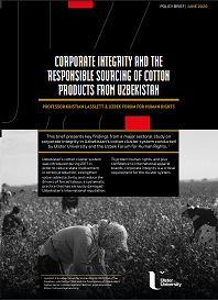 CORPORATE INTEGRITY AND THE RESPONSIBLE SOURCING OF COTTON PRODUCTS FROM UZBEKISTAN