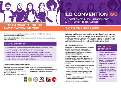 ILO CONVENTION 190 ON VIOLENCE AND HARASSMENT IN THE WORLD OF WORK