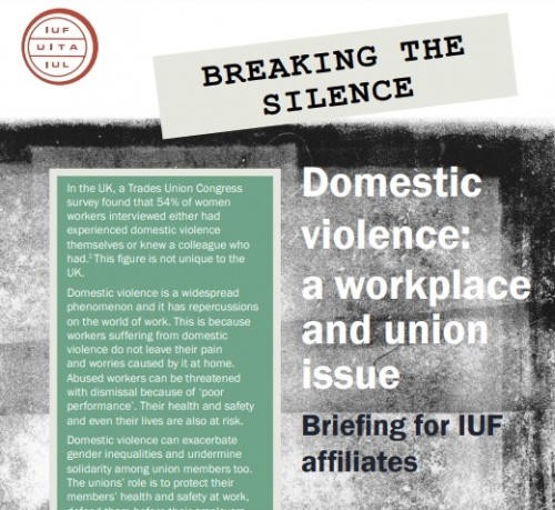 Breaking the silence – why domestic violence is a trade union issue